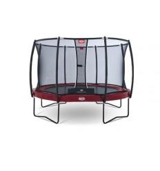 BERG Trampolin 330cm Elite+ i rød inkl. sikkerhedsnet T-Serie