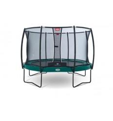 BERG Trampolin 430cm Elite+ i grøn inkl. sikkerhedsnet T-Serie