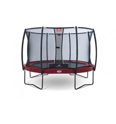 BERG Trampolin 430cm Elite+ i rød inkl. sikkerhedsnet T-Serie