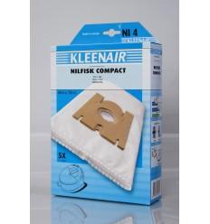 Kleenair NI 4 Støvsugerpose Nilfisk Compact (Microfibre)
