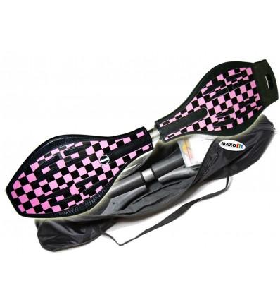 Waveboard MAXOfit® Pro XL Pink lady, op til 95kg, med LED hjul