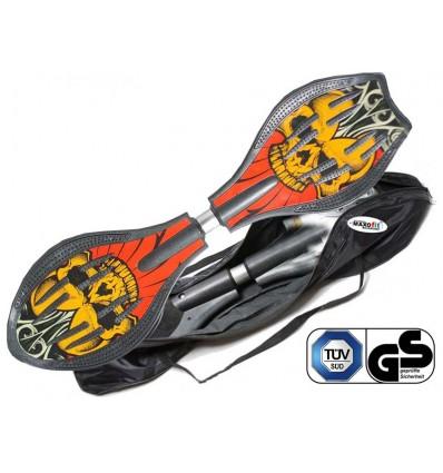 Waveboard MAXOfit® Pro Close Crazy Devil, op til 129kg, med LED hjul