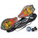Waveboard MAXOfit® Pro Close Crazy Devil, op til 110kg, med LED hjul