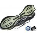 Waveboard MAXOfit® Pro Close Silber, op til 110 kg, med LED hjul